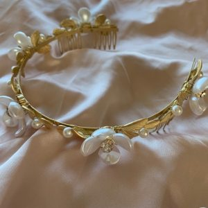 Gold Halo Bridal Crown